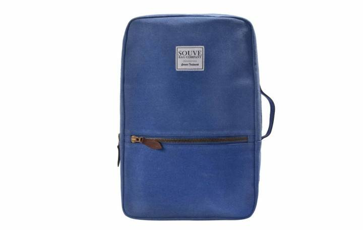 Canvas Backpack Blue_Souve Bag Company
