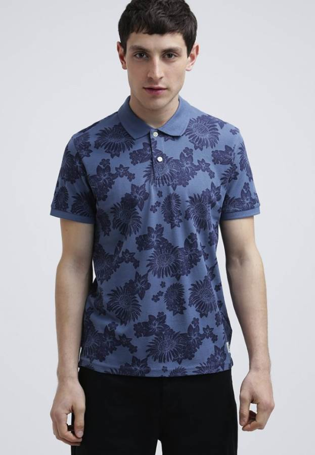 Jack & Jones JJORCAR SLIM - Poloshirt - bering sea