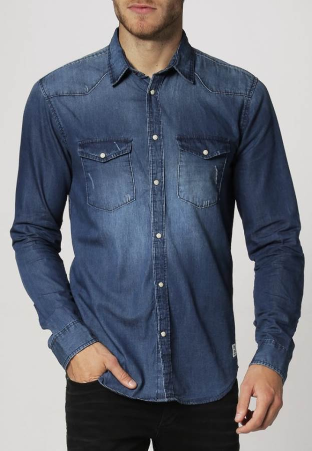 Jack & Jones LEAD - Hemd - dark blue denim