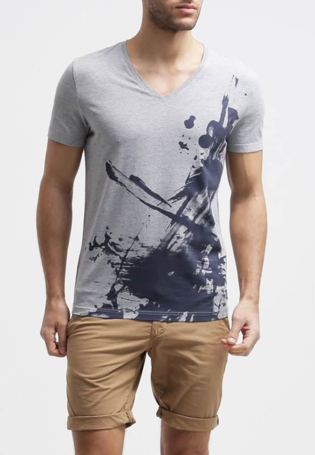 Mustang T-Shirt print - grau