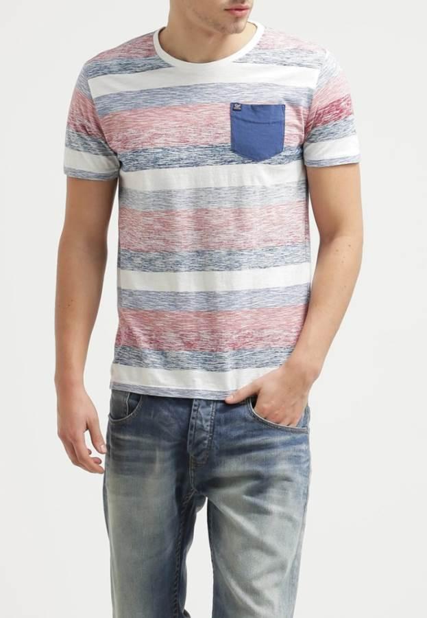 Petrol Industries T-Shirt print - rot blau