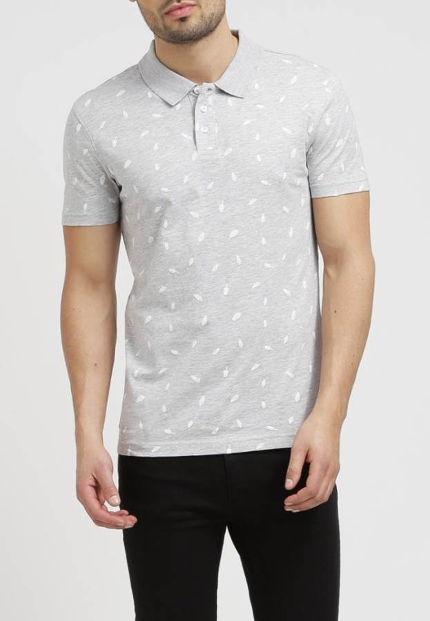 YOUR TURN Poloshirt - light grey melange