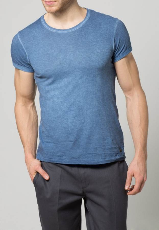 edc by Esprit T-Shirt basic - indigo blau