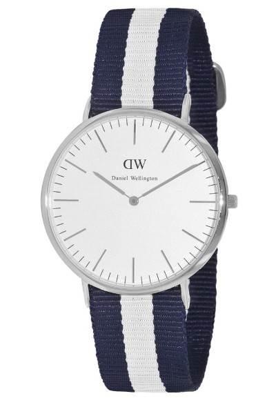 Daniel Wellington GLASGOW - Uhr - weiß silberfarben
