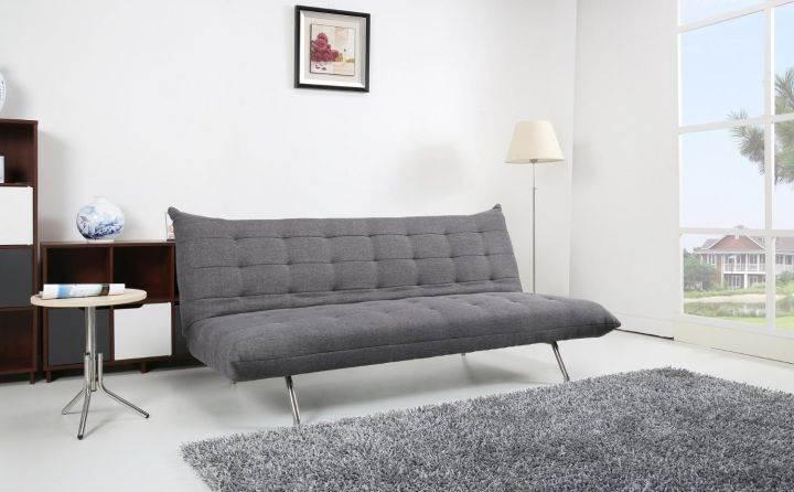 Schlafsofa Pedro Schlafcouch Stoff dunkelgrau Schlaffunktion Sofa