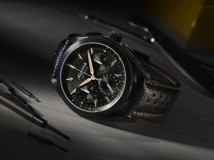 AL-760 Full Black Alpiner Manufacture Flyback Chronograph (5)