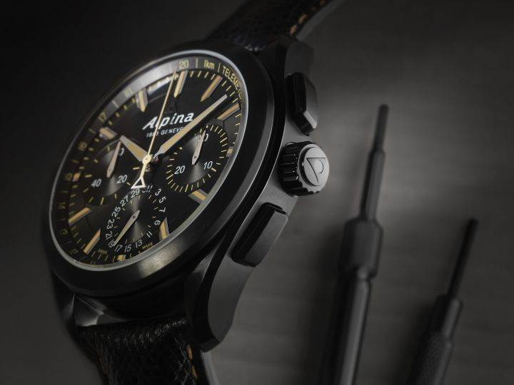 AL-760 Full Black Alpiner Manufacture Flyback Chronograph (6)