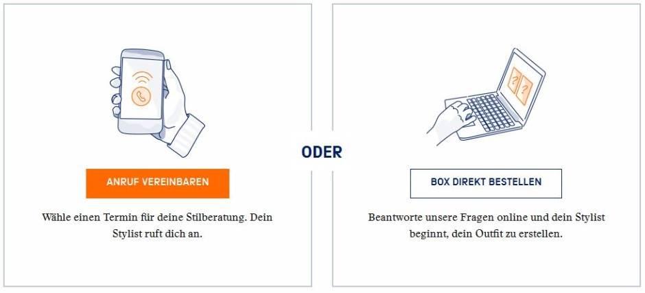 Anruf Stylist vereinbaren - Box bestellen - Zalon by Zalando