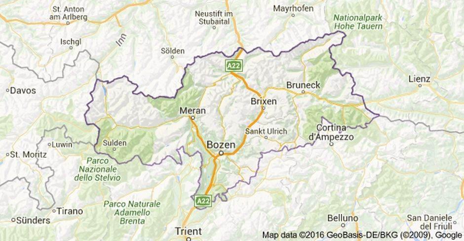 Karte Südtirol