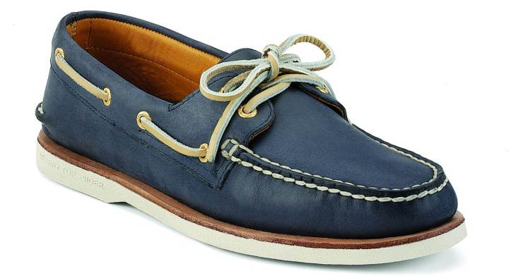 Sperry Gold A-O 2-eye navy