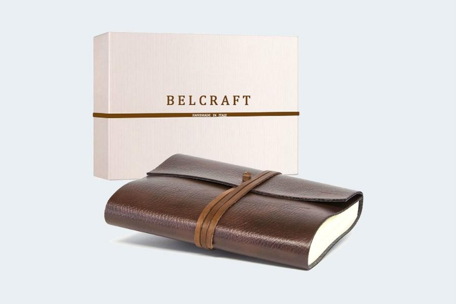 Tivoli A5 mittelgrosses Notizbuch aus recyceltem Leder