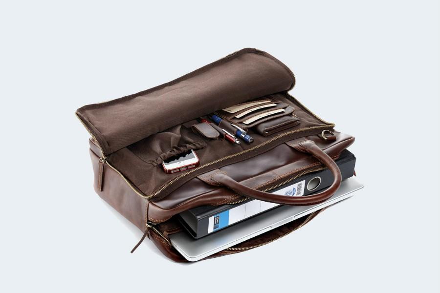 SID VAIN Laptoptasche Leder Ryan XL